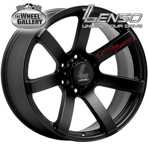LENSO RT-CONCAVE MATT BLACK 17x8 6/114.3  +20 WHEEL