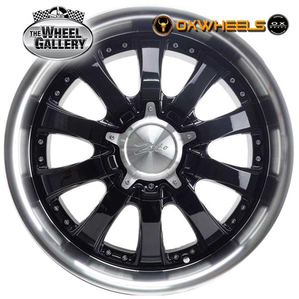 OXWHEELS OX10245 BLACK MACHINED LIP / DEROSA 20x9  +30 WHEEL