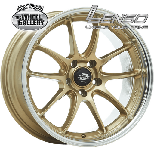 LENSO RACE-4 GOLD MIRROR LIP 18x8.5 5/114.3  +35 WHEEL