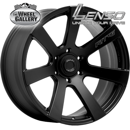LENSO RTG MATT BLACK LASER TEXT 18x9 6/139.7  +20 WHEEL