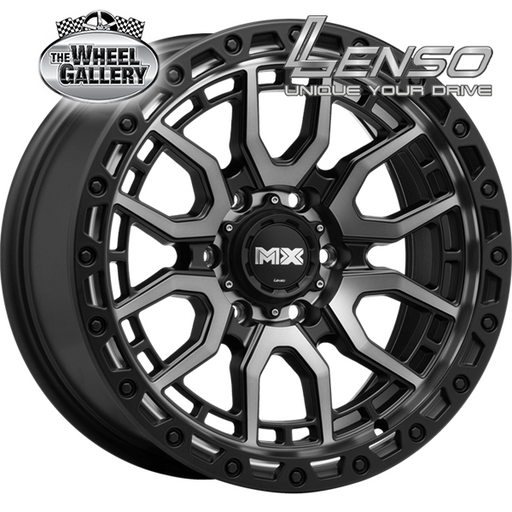 LENSO MX-AMURO PASSION BLACK + BLK LIP 17x9 6/139.7  +20 WHEEL