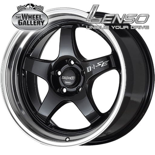 LENSO PDSE GLOSS BLACK MIR/LIP 17x7.5 8/100  +42 WHEEL