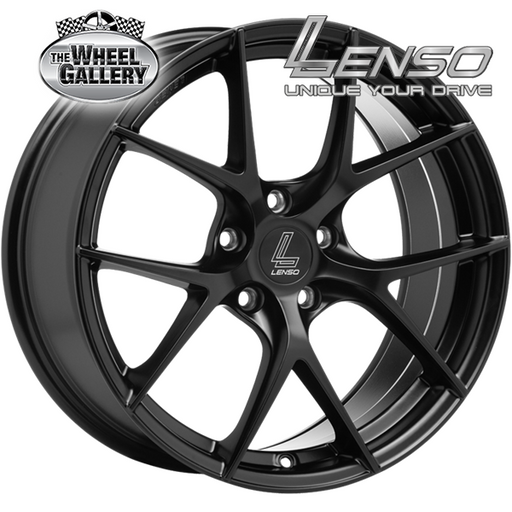 LENSO JAGER DYNA SATIN BLACK 18x8.5 5/100  +35 WHEEL