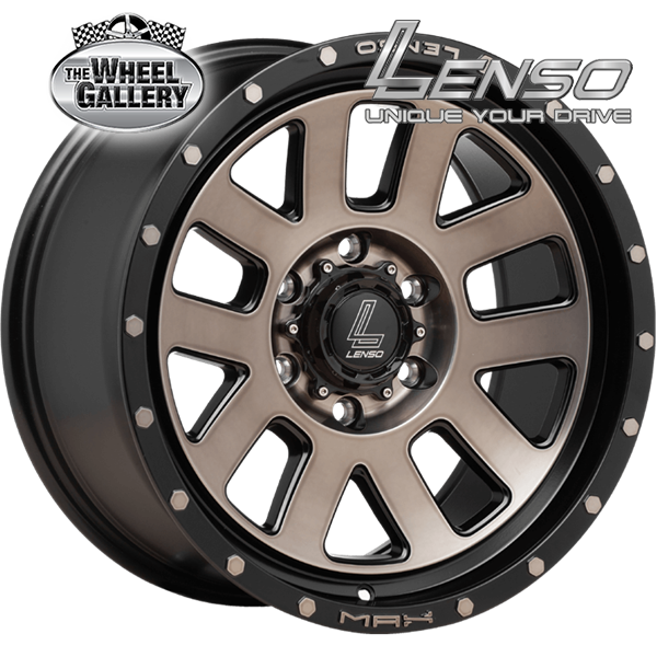 LENSO MX7 GLOSS BLACK COPPER TINT  18x9 6/114.3  +20 WHEEL