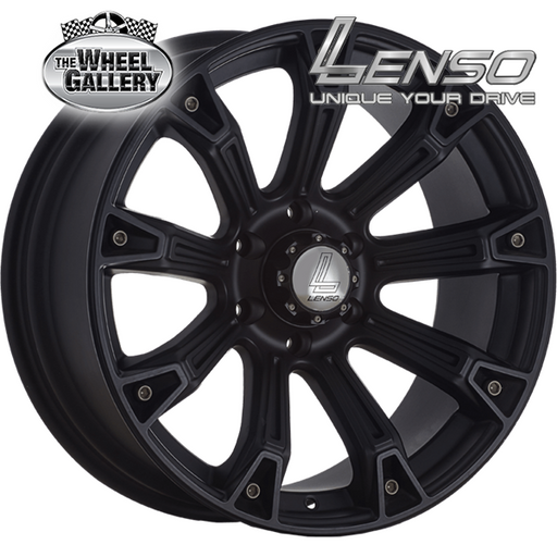 LENSO INTIMIDATOR-6 MATT BLACK 20x9 6/139.7  +10 WHEEL