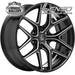 LENSO JAGER DYNA BLACK + EDGE BALL CUT 18x9 6/139.7  +20 WHEEL