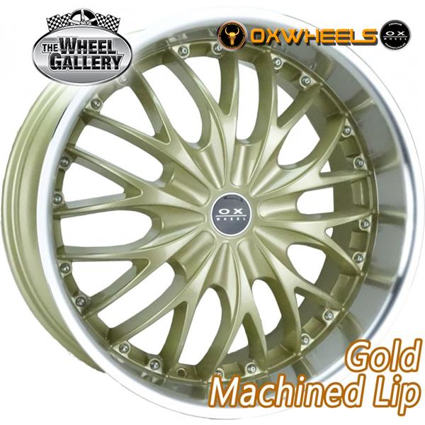 OXWHEELS OX631 GOLD MACHINED LIP 17x7.5  +15 WHEEL