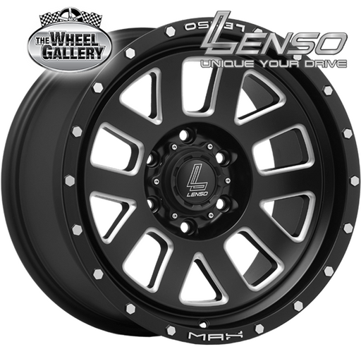LENSO MX7 SATIN BLACK SPOKE CHAMFER 17x9 6/114.3  +20 WHEEL