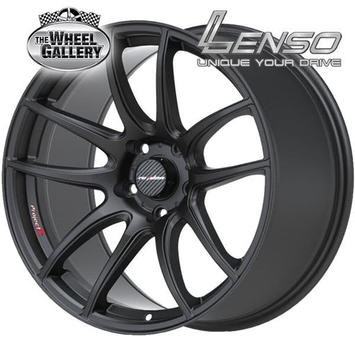 LENSO SPEC-E MATT BLACK 18x8.5 5/100  +35 WHEEL
