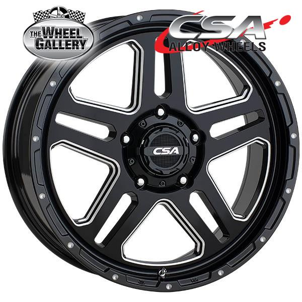 CSA BRONX GLOSS BLACK MILLED 17x9 5/150  +40 WHEEL