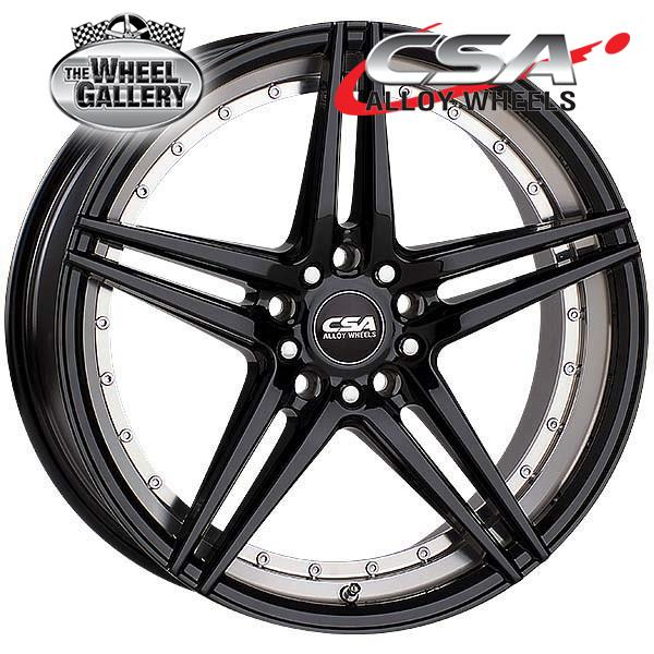 CSA MANTA GLOSS BLACK MACHINED 17x8 5/108  +42 WHEEL