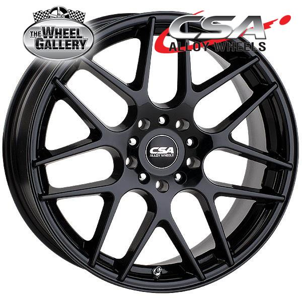 CSA MILAN GLOSS BLACK 16x6.5 4/100  +40 WHEEL