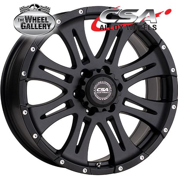 CSA RAPTOR SATIN BLACK 16x8 6/139.7  +25 WHEEL