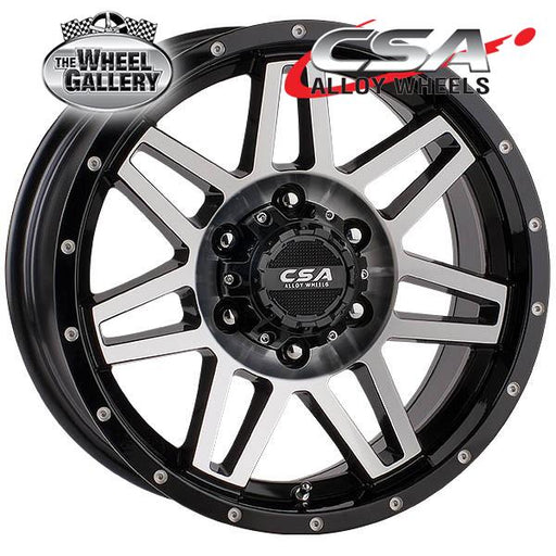 CSA RENEGADE GLOSS BLACK W/MACHINED FACE 16x8 6/139.7  +20 WHEEL