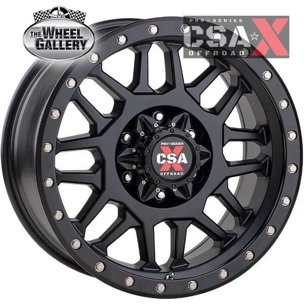 CSA-X COMBAT SATIN BLACK 16x8 6/139.7  -6 WHEEL