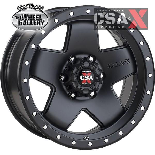CSA-X RIOT SATIN BLACK 17x9 6/139.7  +18 WHEEL
