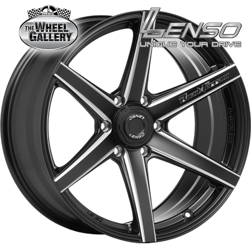 LENSO RTH SATIN BLACK EDGE CHAMFER 18x9.5 6/139.7  +20 WHEEL
