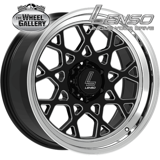 LENSO RTN GLOSS BLACK MIRROR LIP  20x10 6/139.7  +10 WHEEL