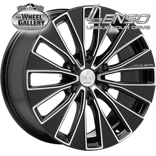 LENSO JAGER ENIGMA BLACK 18x8.5 6/139.7  +40 WHEEL