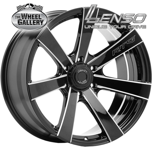 LENSO RTG GLOSS BLACK MILLED EDGE 18x9 6/139.7  +20 WHEEL