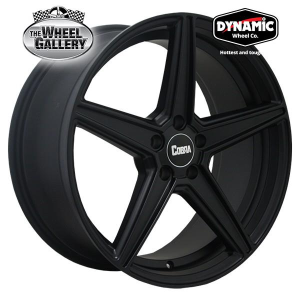 DYNAMIC ALLOY COBRA MATTE BLACK 20x9 5/114.3  +42 WHEEL