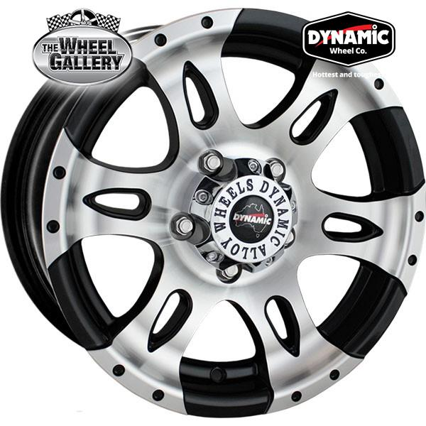 DYNAMIC ALLOY DT1 GLOSS BLACK MACHINED 14x6 5/108  +10 WHEEL