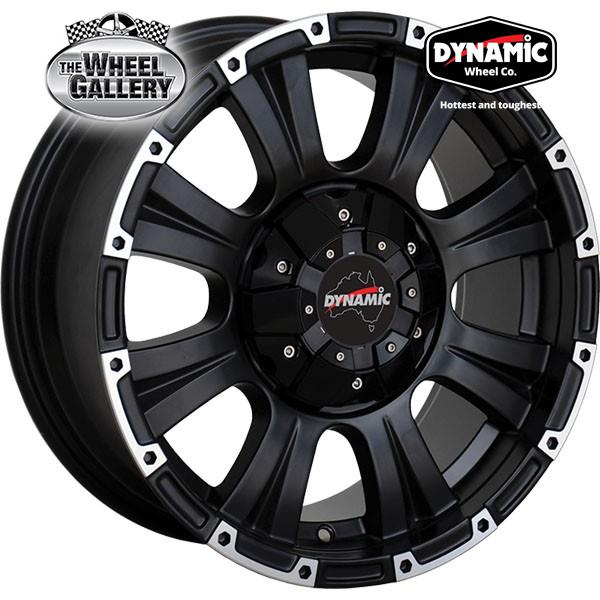 DYNAMIC ALLOY HI8 MATTE BLACK 16x8 5/120  +30 WHEEL