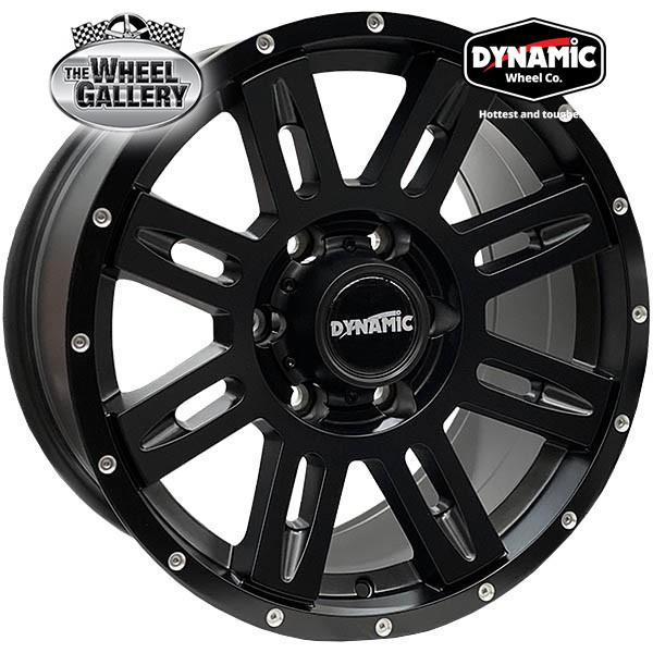 DYNAMIC ALLOY QUAKE SATIN BLACK 17x9 6/139.7  +20 WHEEL
