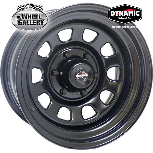DYNAMIC STEEL D STYLE BLACK 15x6 5/114.3  -12 WHEEL