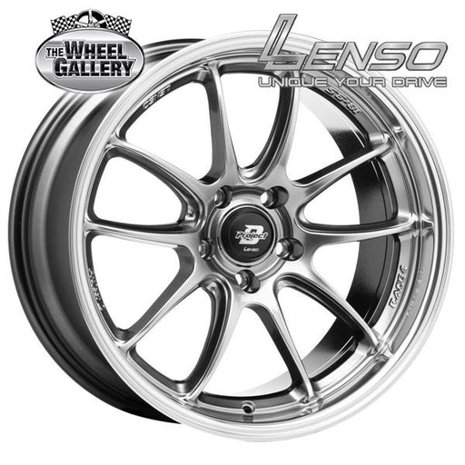 LENSO RACE-4 HYPER BLACK MIRROR LIP 18x9.5 5/114.3  +25 WHEEL