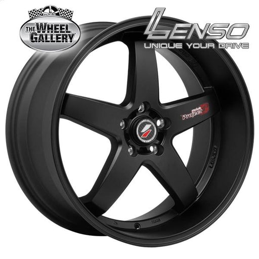 LENSO D1R MATT BLACK 20x8.5 5/114.3  +35 WHEEL