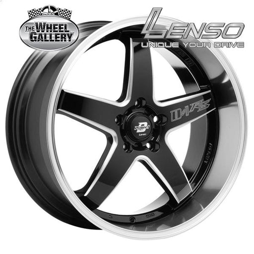LENSO D1RS GLOSS BLACK MILLED M-LIP  20x8.5 5/120  +35 WHEEL