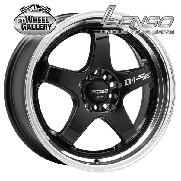 LENSO PDSE GLOSS BLACK MIRROR LIP 18x8.5 5/100  +35 WHEEL