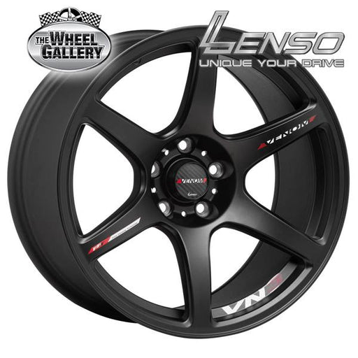 LENSO VENOM-3 MATT BLACK FLOW FORMED 18x9 5/114.3  +25 WHEEL
