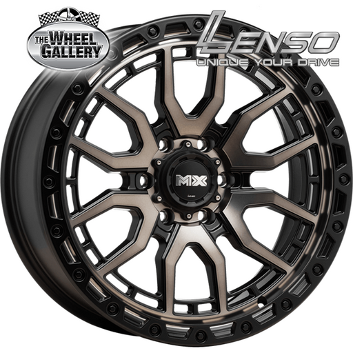 LENSO MX-AMURO COPPER TINT + BLACK LIP 17x9 6/139.7  +20 WHEEL