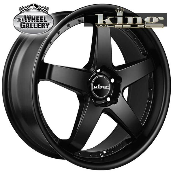 KING DETROIT SATIN BLACK 18x8 5/114.3  +35 WHEEL