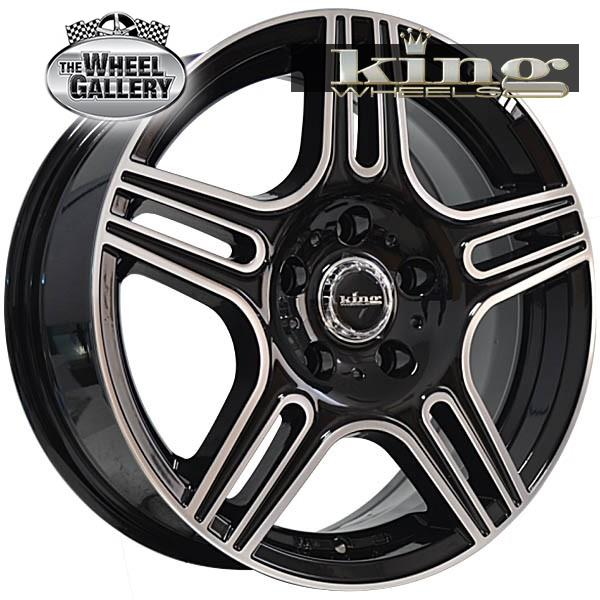 KING DRIL L GLOSS BLACK MACHINED 14x5.5 4/100  +40 WHEEL