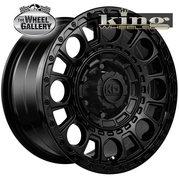 KING GENERAL SATIN BLACK 17x9 6/139.7  +20 WHEEL