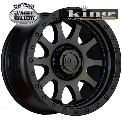 KING HURRICANE SATIN BLACK 16x8 5/150  -5 WHEEL