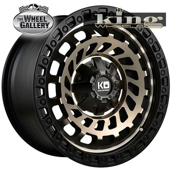 KING ZOMBIE SATIN BLACK MACHINED BRONZE 17x9 6/139.7  +12 WHEEL