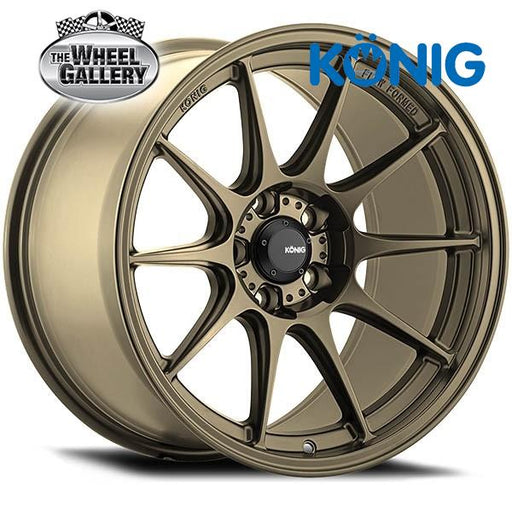 KONIG DEKAGRAM GLOSS BRONZE 17x8 5/114.3  +40 WHEEL