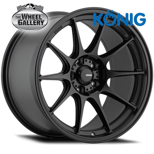 KONIG DEKAGRAM MATTE BLACK 17x8 5/114.3  +40 WHEEL