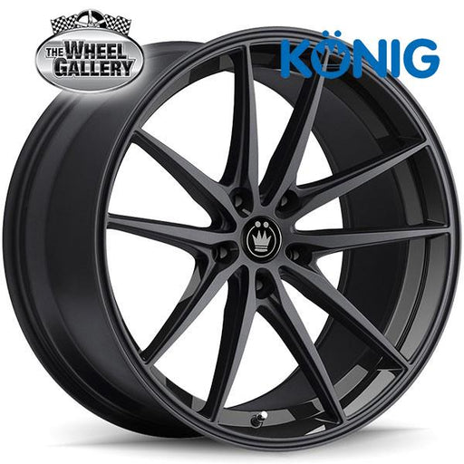 KONIG OVERSTEER GLOSS BLACK 17x8 5/114.3  +40 WHEEL
