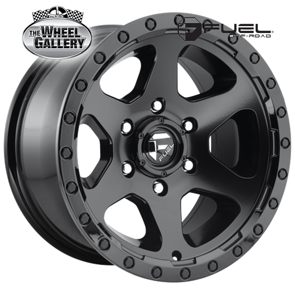 FUEL D589 RIPPER MATTE BLACK GLOSS BLACK LIP 20x9 6/139.7  +20 WHEEL