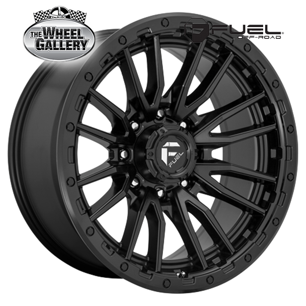 FUEL D679 REBEL MATTE BLACK 17x9 5/127  +12 WHEEL