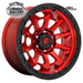 FUEL D695 COVERT CANDY RED BLACK BEAD RING 17x9 5/150  +1 WHEEL