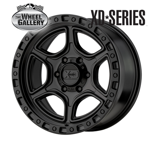 XD WHEELS XD139 PORTAL SATIN BLACK 16x8 6/139.7  +6 WHEEL