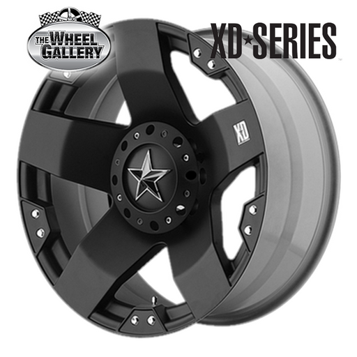 XD WHEELS XD775 ROCKSTAR MATTE BLACK 17x8  +10 WHEEL