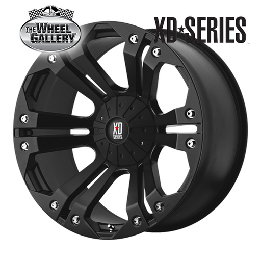 XD WHEELS XD778 MONSTER MATTE BLACK 18x9 5/139.7  +35 WHEEL