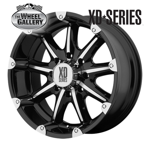 XD WHEELS XD779 BADLANDS GLOSS BLACK MACHINED 20x9 6/139.7  +18 WHEEL